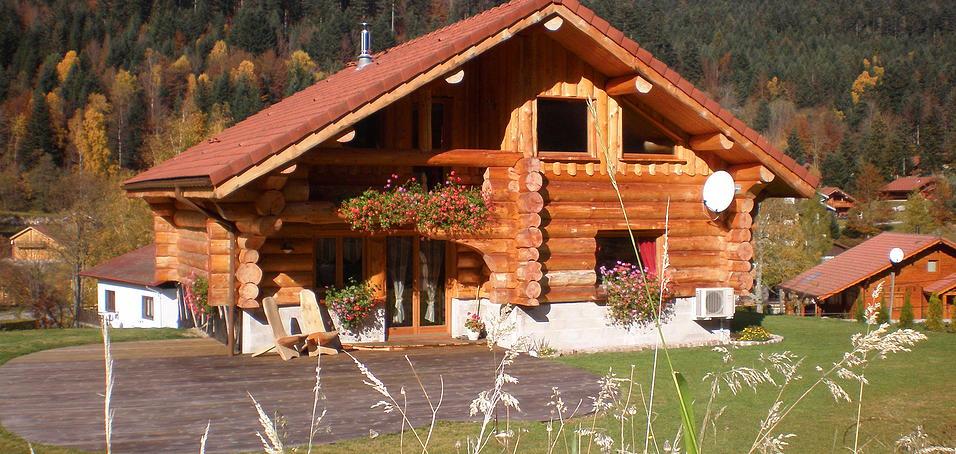 location d 39 un chalet la bresse echo du lac. Black Bedroom Furniture Sets. Home Design Ideas